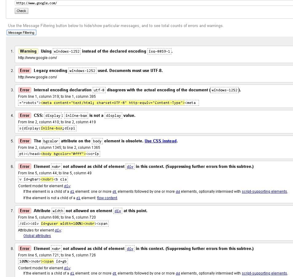 validnost-koda-google